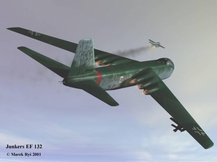 PROYECTOS INCONCLUSOS DE LA AERONÁUTICA ALEMANA DE LA S.G.M. - Página 9 Junkers_ju_ef_132_dos