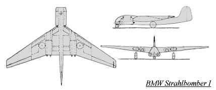 PROYECTOS INCONCLUSOS DE LA AERONÁUTICA ALEMANA DE LA S.G.M. Bmw_strahlbomber_uno_dibujo