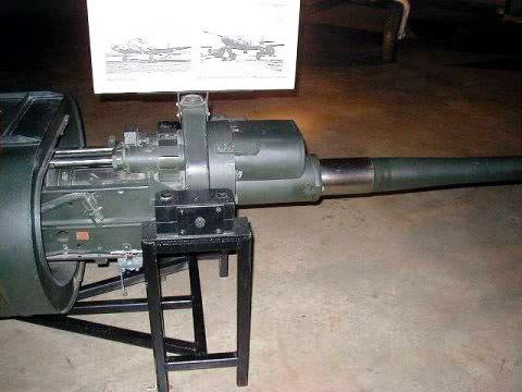PROYECTOS INCONCLUSOS DE LA AERONÁUTICA ALEMANA DE LA S.G.M. Canon_Mauser_MK_214_50_mm_dos