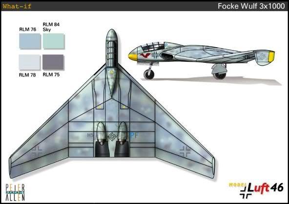 PROYECTOS INCONCLUSOS DE LA AERONÁUTICA ALEMANA DE LA S.G.M. Focke_wulf_fw_mil_mil_mil_B_diez
