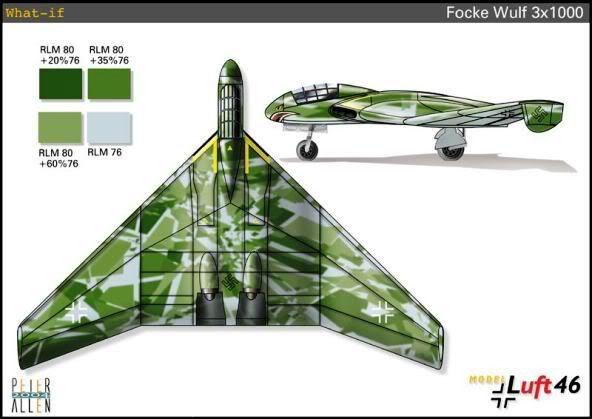 PROYECTOS INCONCLUSOS DE LA AERONÁUTICA ALEMANA DE LA S.G.M. Focke_wulf_fw_mil_mil_mil_B_once