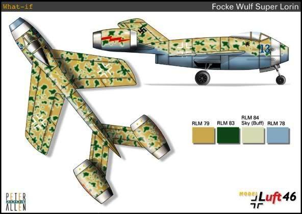 PROYECTOS INCONCLUSOS DE LA AERONÁUTICA ALEMANA DE LA S.G.M. Focke_wulf_fw_super_lorin_cinco