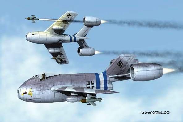 PROYECTOS INCONCLUSOS DE LA AERONÁUTICA ALEMANA DE LA S.G.M. Focke_wulf_fw_super_lorin_cuatro