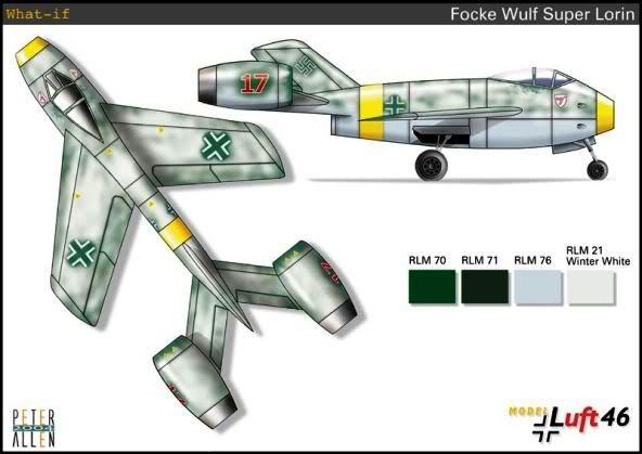 PROYECTOS INCONCLUSOS DE LA AERONÁUTICA ALEMANA DE LA S.G.M. Focke_wulf_fw_super_lorin_seis