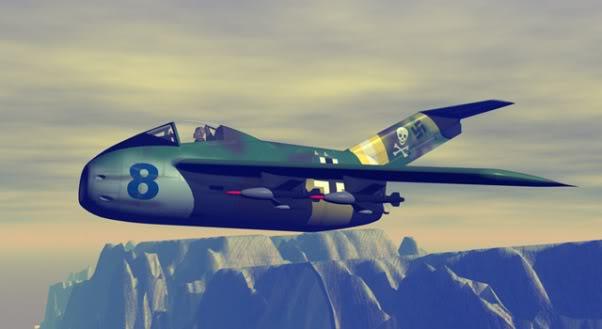 Copias descaradas de proyectos militares. Focke_wulf_fw_ta_183_cuarenta