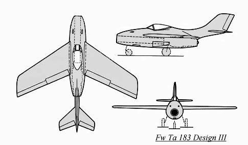 Copias descaradas de proyectos militares. Focke_wulf_fw_ta_183_diseno_III_dib