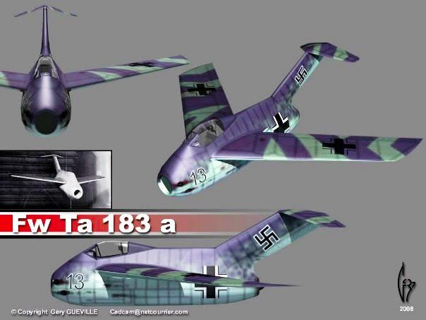 Copias descaradas de proyectos militares. Focke_wulf_fw_ta_183_dos