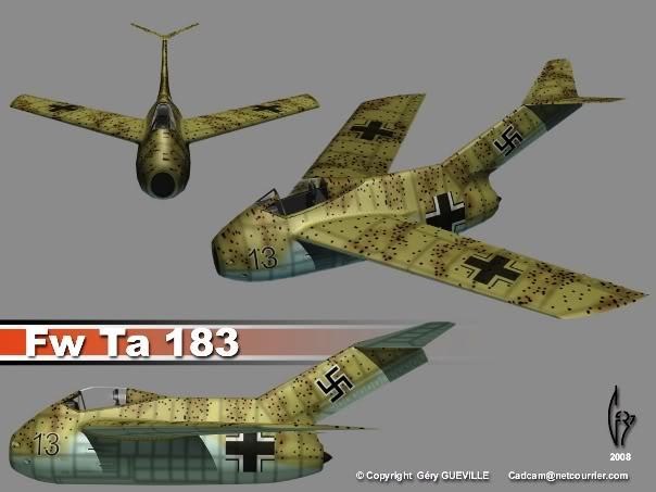 Copias descaradas de proyectos militares. Focke_wulf_fw_ta_183_uno