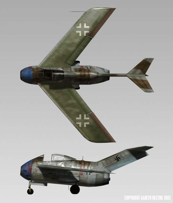 Copias descaradas de proyectos militares. Focke_wulf_fw_ta_183_veinticuatro