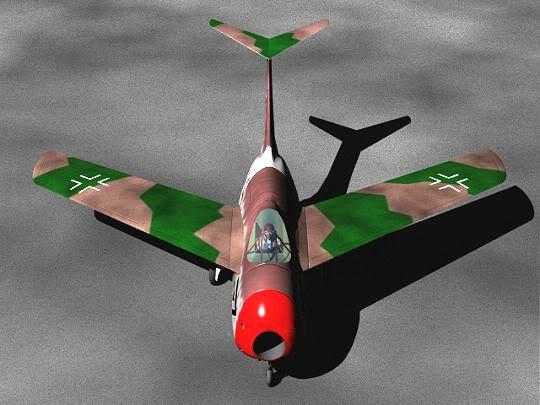 Copias descaradas de proyectos militares. Focke_wulf_fw_ta_183_veintiseis