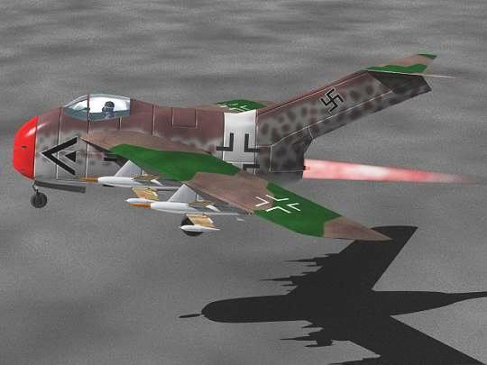 Copias descaradas de proyectos militares. Focke_wulf_fw_ta_183_veintisiete
