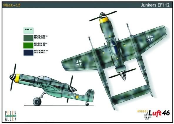 PROYECTOS INCONCLUSOS DE LA AERONÁUTICA ALEMANA DE LA S.G.M. Junkers_ju_EF_112_nueve