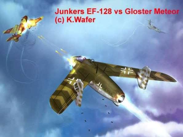 PROYECTOS INCONCLUSOS DE LA AERONÁUTICA ALEMANA DE LA S.G.M. Junkers_ju_ef_128_nueve