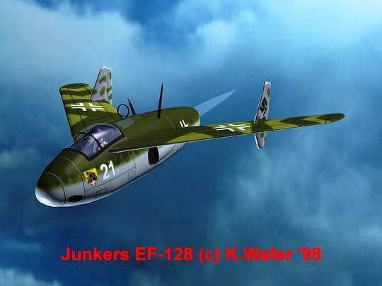 PROYECTOS INCONCLUSOS DE LA AERONÁUTICA ALEMANA DE LA S.G.M. Junkers_ju_ef_128_ocho