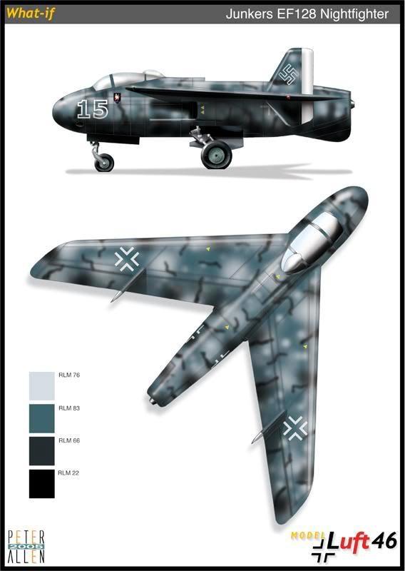 PROYECTOS INCONCLUSOS DE LA AERONÁUTICA ALEMANA DE LA S.G.M. Junkers_ju_ef_128_veintitres
