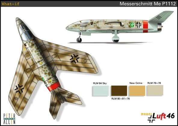 PROYECTOS INCONCLUSOS DE LA AERONÁUTICA ALEMANA DE LA S.G.M. Messerschmitt_me_P_1112_catorce