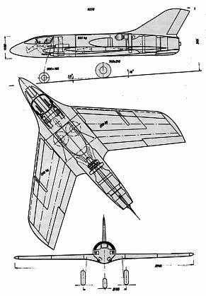 PROYECTOS INCONCLUSOS DE LA AERONÁUTICA ALEMANA DE LA S.G.M. Messerschmitt_me_P_1112_corte