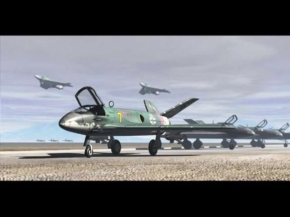PROYECTOS INCONCLUSOS DE LA AERONÁUTICA ALEMANA DE LA S.G.M. Messerschmitt_me_P_1112_diez