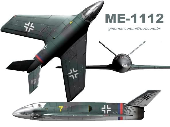 PROYECTOS INCONCLUSOS DE LA AERONÁUTICA ALEMANA DE LA S.G.M. Messerschmitt_me_P_1112_seis