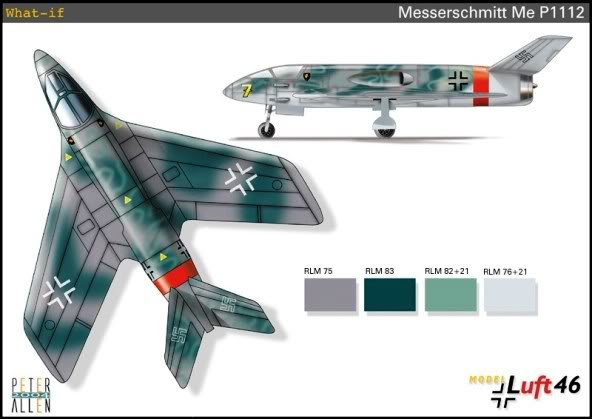 PROYECTOS INCONCLUSOS DE LA AERONÁUTICA ALEMANA DE LA S.G.M. Messerschmitt_me_P_1112_trece