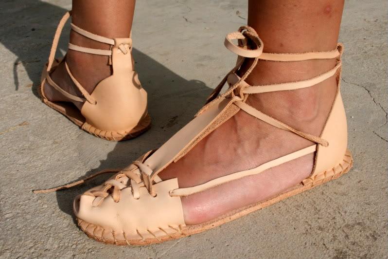 Sandalias artesanas. IMG_8214