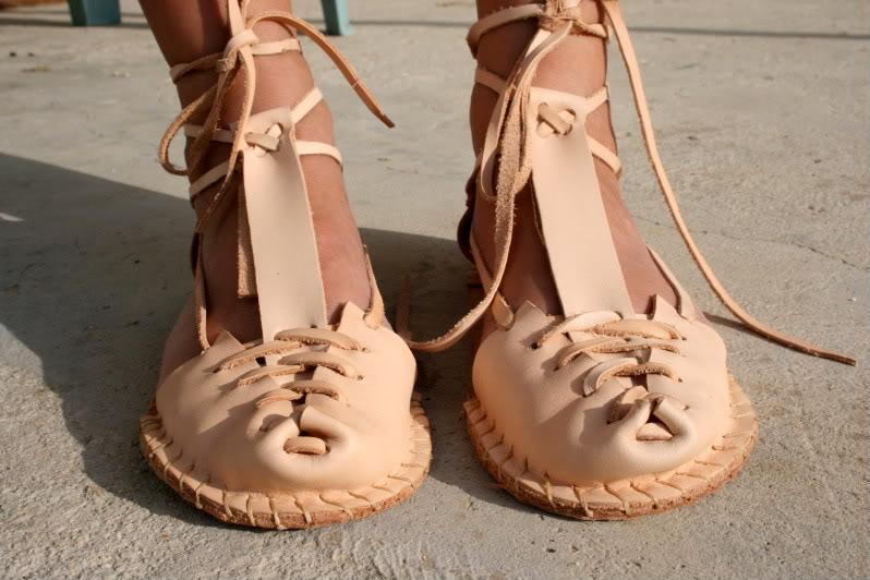 Sandalias artesanas. IMG_8215