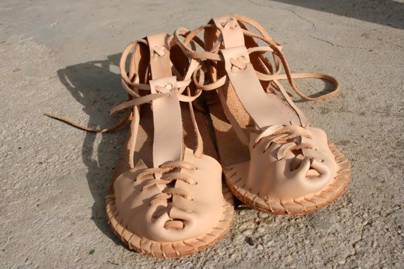 Sandalias artesanas. IMG_8216