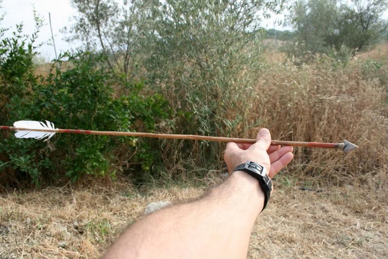 Flecha con punta de sílex. IMG_8237