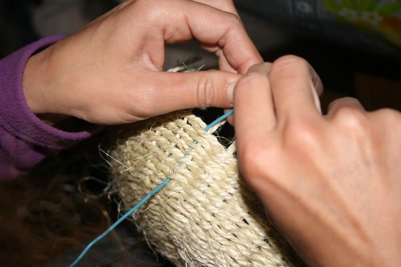 Cesto de cuerda paso a paso  IMG_8712