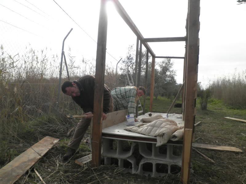 Montando el gallinero, por fin. PC170025