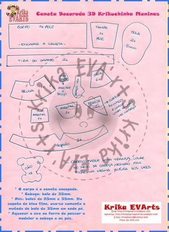 Club Fofuchomania Mundo Craft - Página 2 Caneta3dmeninasmolde