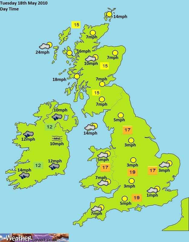 Tuesday 9th March Forecast Day-2