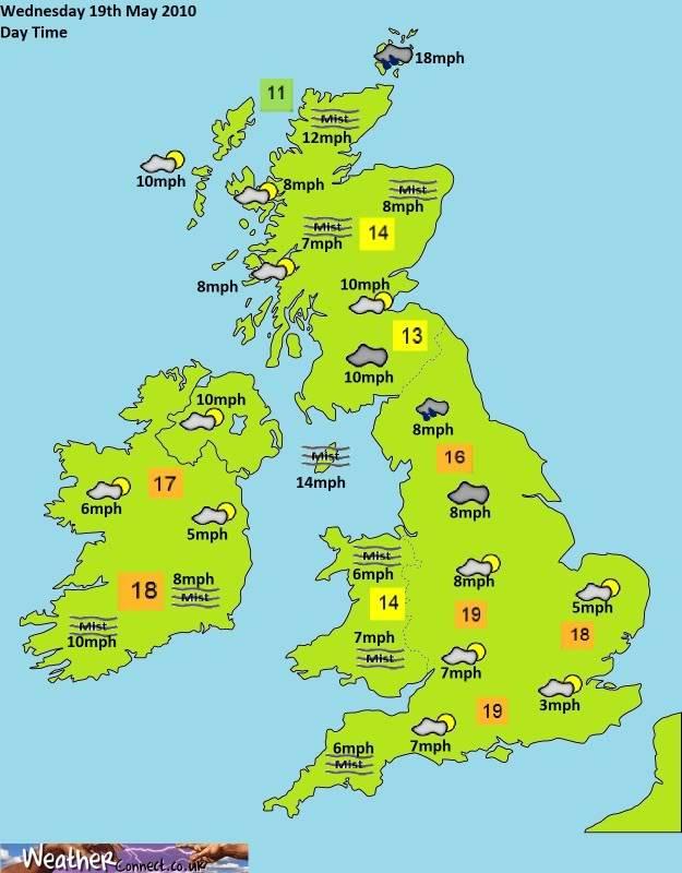 Wednesday 21st April Forecast Day