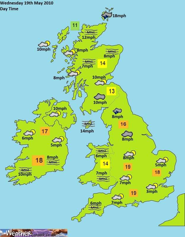 Wednesday 19th May Forecast Day
