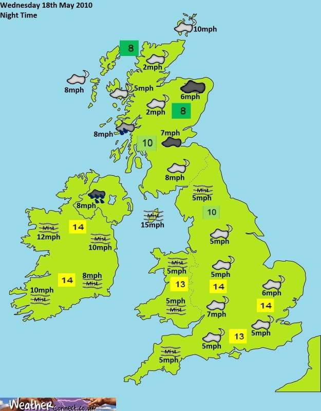 Tuesday 9th March Forecast Night-2