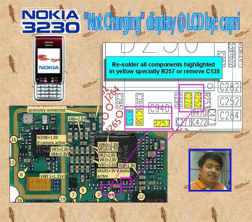 nokia 3230 solution 3230-Not-charging