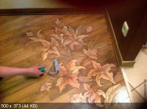 Ручная роспись деревянного пола. Идеи 7fce352999b6d47a0f1897eeac2f1f53