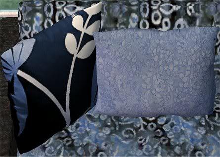 Indian Blue Batik Living Room @ Basic...for Sims IndianBlueBatikPillows