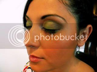 Green Eyes - A wedding look Leanneafter2