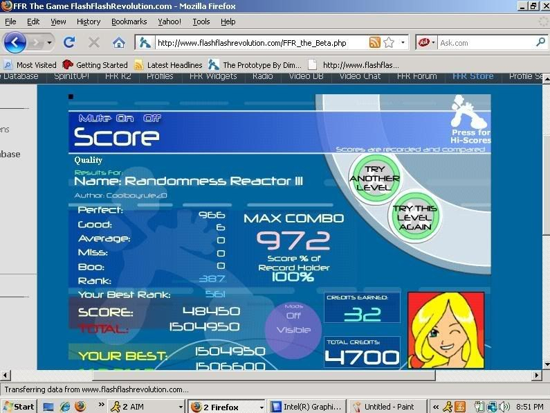 Post your FFR Scores here! Randomness