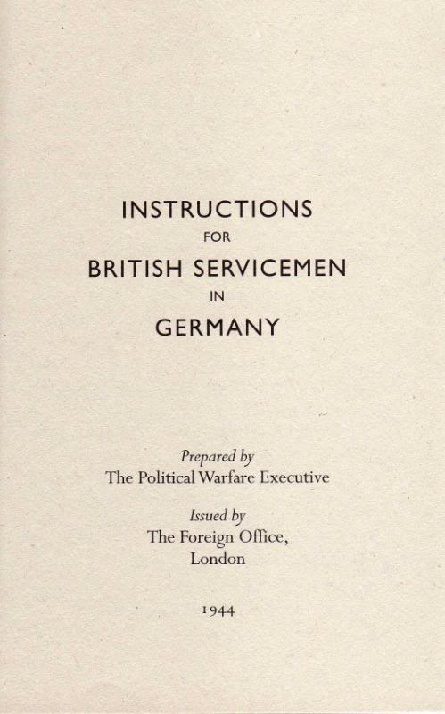 Instructions for British servicemen in Germany 1944 Img477