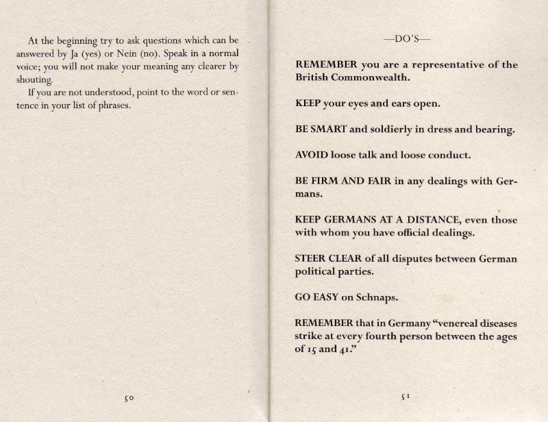 Instructions for British servicemen in Germany 1944 Img502