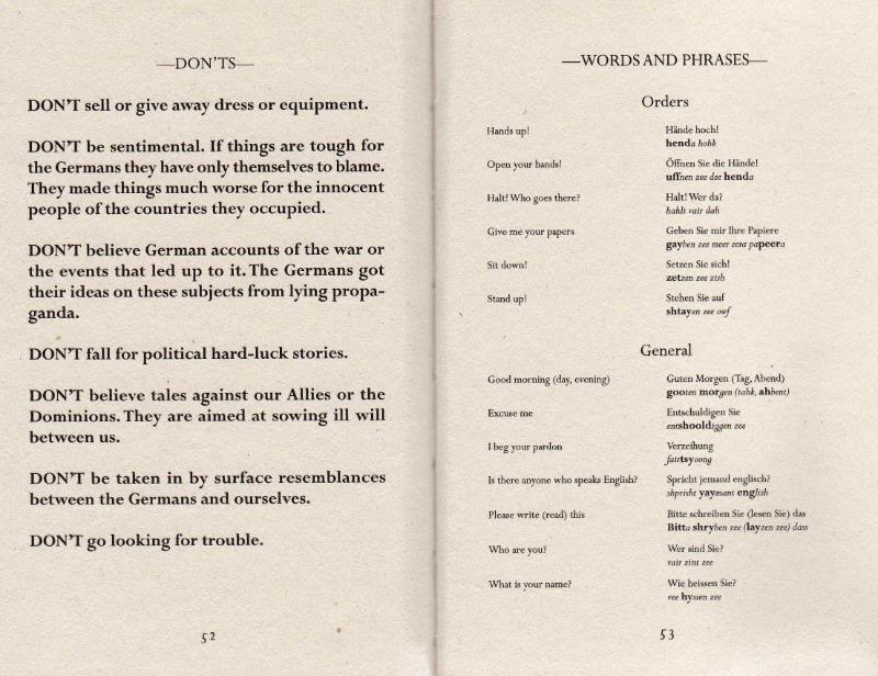 Instructions for British servicemen in Germany 1944 Img503