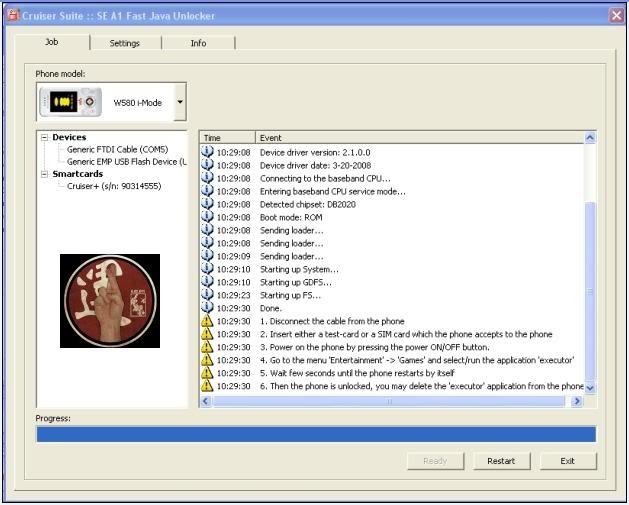 W580i mode Unlock via Fast Java Unlocker [tsalap] W580i