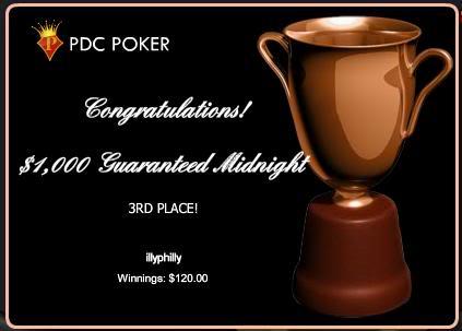 won the $1,000 guaranteed Maypdc3