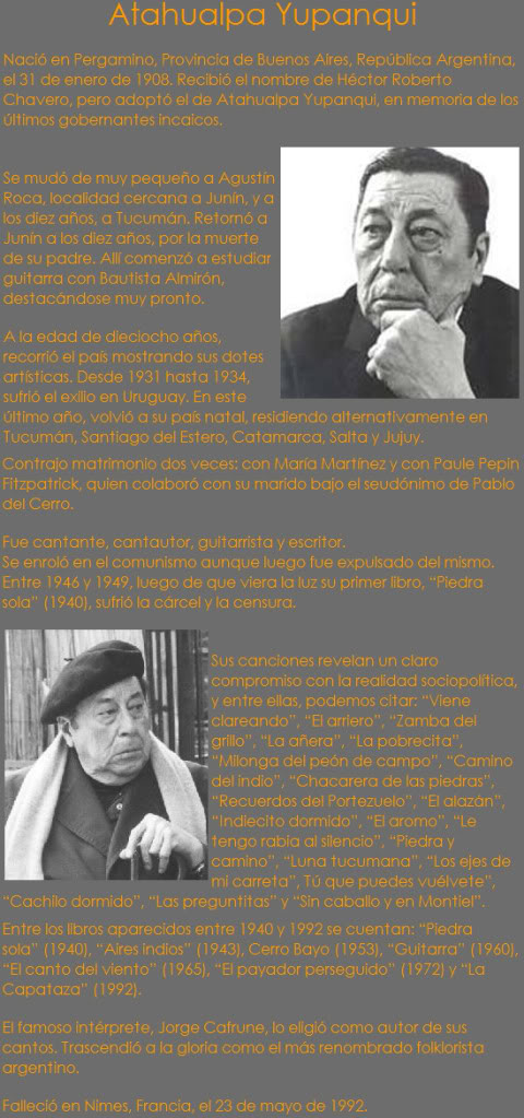 """El Poeta"" de Atahualpa Yupanqui (Para compartir) Atahualpa-yupanqui"