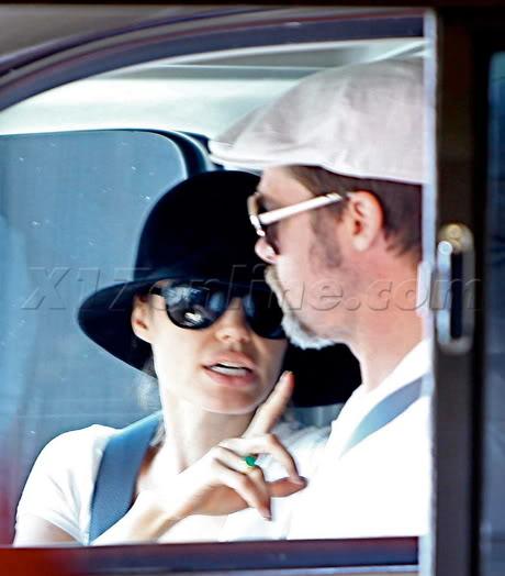 Brad And Angelina Ordering Food At A McDonald's Drive-Thru In Hollywood Bpitt072609_02