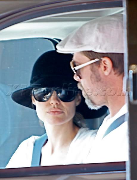 Brad And Angelina Ordering Food At A McDonald's Drive-Thru In Hollywood Bpitt072609_03