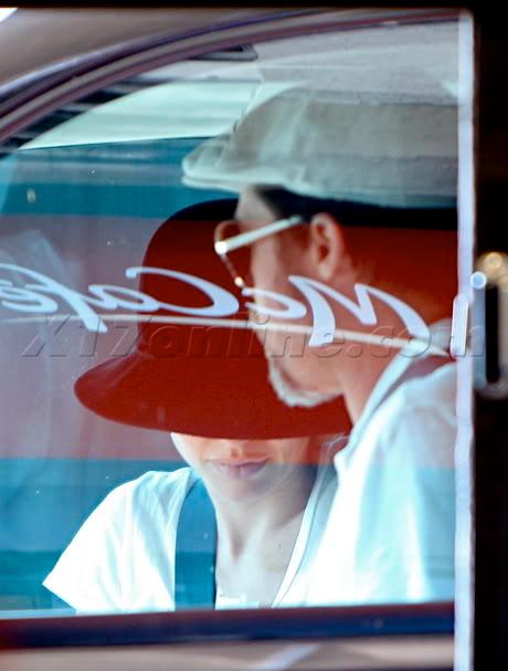 Brad And Angelina Ordering Food At A McDonald's Drive-Thru In Hollywood Bpitt072609_08