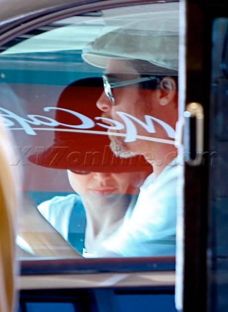 Brad And Angelina Ordering Food At A McDonald's Drive-Thru In Hollywood Bpitt072609_09